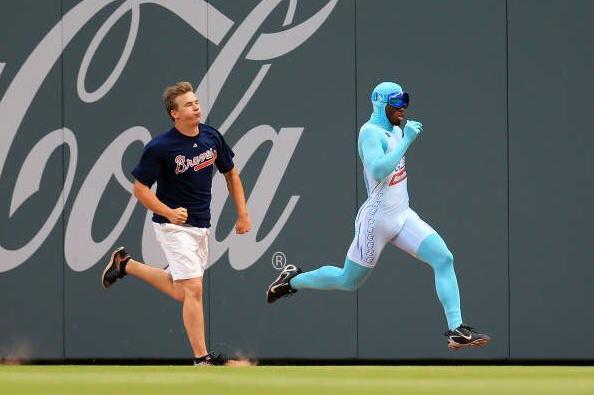 The Freeze races by an opponent during a game earlier this season. (Getty Images)