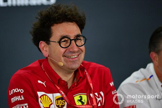 "Mattia Binotto, Team Principal Ferrari <span class=""copyright"">Simon Galloway / Motorsport Images</span>"