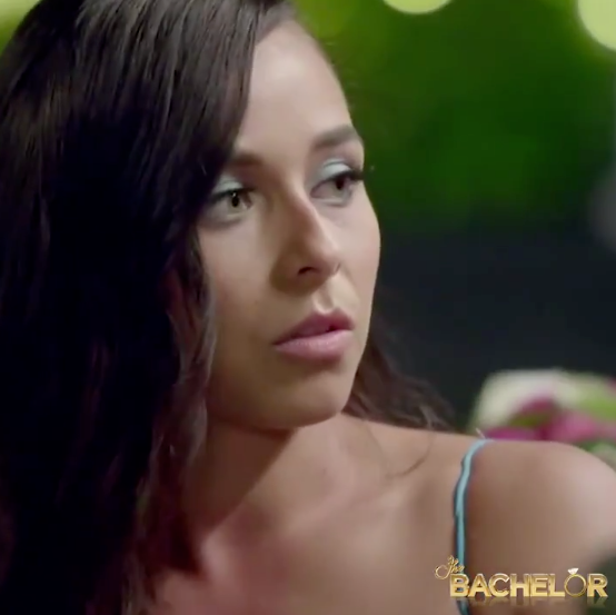 Last night's episode of The Bachelor saw Brooke open up about her past relationships. Photo: Channel Ten, brooke blurton, brooke bachelor, brooke bachelor sexuality, brooke bachelor secret