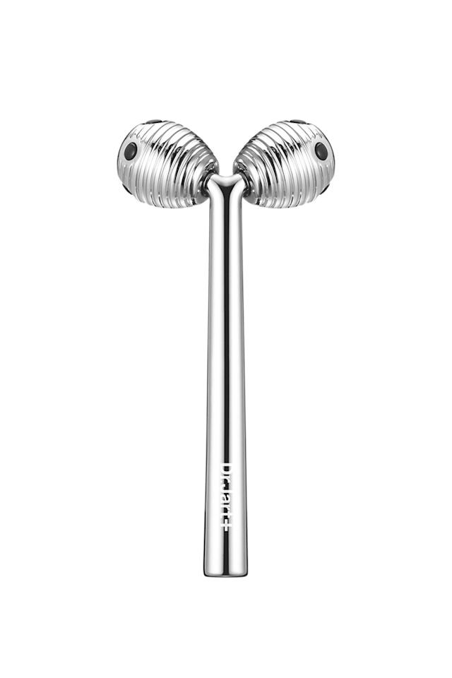 """<p>Consider these handheldsyour at-home facialists. Rolling and massagingtools arestaples in Korean skin care regimens to coax circulation andrelax tense muscles, and they're purported tokeepskin taut. This rolling device aims to firm skin.Use italong the jawline from chin to earlobes, across cheekbones, and up and down the neck.</p><p><strong>Dr. Jart+</strong>Liftra Contour Shaper,$80,<a rel=""""nofollow"""" href=""""http://www.sephora.com/liftra-contour-shaper-P406606"""">sephora.com</a>.</p>"""