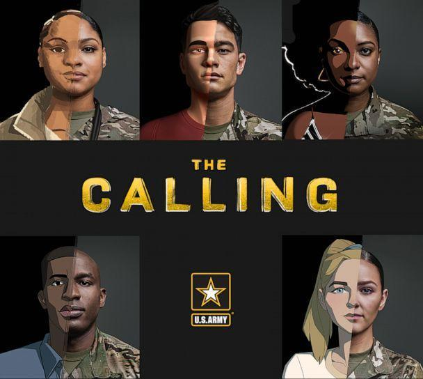 PHOTO: The Army's new 'The Calling' recruiting campaign profiles five soldiers who tell their personal stories in animated vignettes to appeal to Generation Z. (US Army)