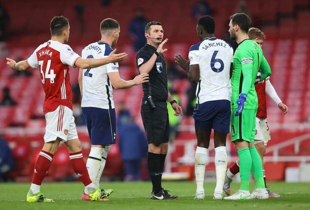 Mourinho questioned his record under referee Michael Oliver