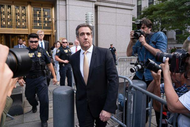 PHOTO: Michael Cohen, former personal lawyer to President Donald Trump, leaves federal court after reaching a plea agreement in New York City, Aug. 21, 2018. (Craig Ruttle/AP, FILE)