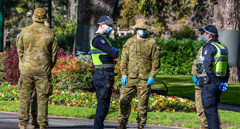 Melbourne residents are currently allowed outside for one hour of exercise a day and must comply with a strict curfew. Source: AAP
