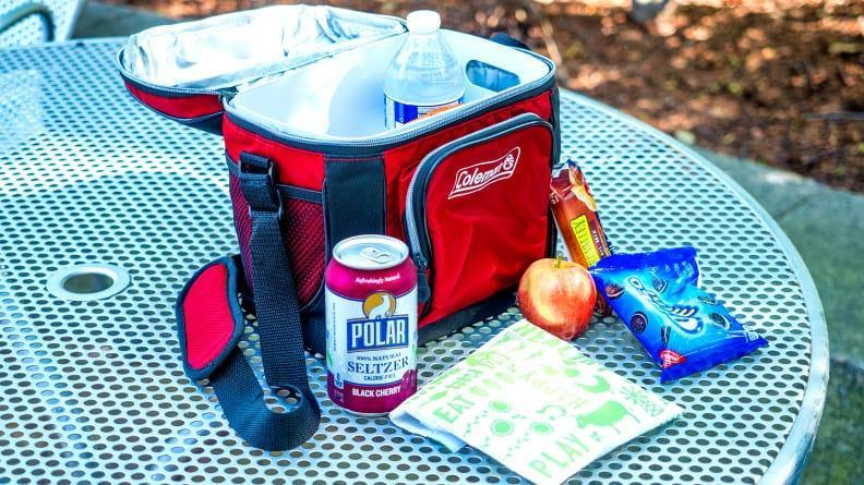 Keep all your beverages, snacks and desserts cold in this on-the-go cooler.
