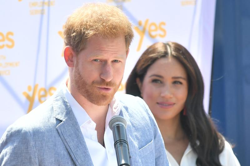 JOHANNESBURG, SOUTH AFRICA - OCTOBER 02: Prince Harry, Duke of Sussex and Meghan, Duchess of Sussex visit the township of Tembisa during their royal tour of South Africa on October 02, 2019 in Various Cities, South Africa. (Photo by Samir Hussein/WireImage)
