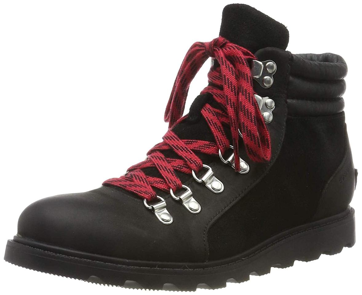"""<p>The <a href=""""https://www.popsugar.com/buy/Sorel-Women-Ainsley-Conquest-Boot-503648?p_name=Sorel%20Women%27s%20Ainsley%20Conquest%20Boot&retailer=amazon.com&pid=503648&price=140&evar1=fab%3Aus&evar9=46779131&evar98=https%3A%2F%2Fwww.popsugar.com%2Ffashion%2Fphoto-gallery%2F46779131%2Fimage%2F46779132%2FSorel-Women-Ainsley-Conquest-Boot&list1=shopping%2Cshoes%2Cboots&prop13=api&pdata=1"""" rel=""""nofollow"""" data-shoppable-link=""""1"""" target=""""_blank"""" class=""""ga-track"""" data-ga-category=""""Related"""" data-ga-label=""""https://www.amazon.com/gp/product/B079RM8XQY/"""" data-ga-action=""""In-Line Links"""">Sorel Women's Ainsley Conquest Boot</a> ($140) are comfortable and waterproof. I went up a half size (normally a 7, purchased a 7.5) based on customer reviews, and they fit perfectly.</p>"""