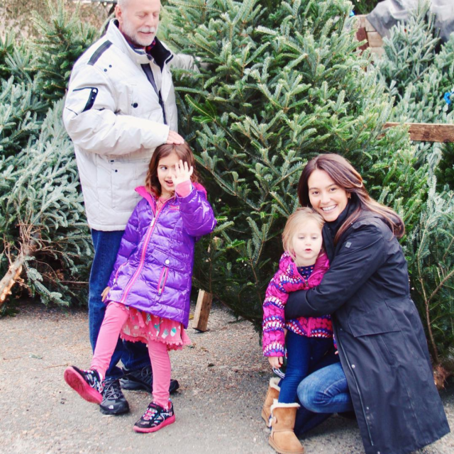 "<p>Emma and hubby, Bruce Willis, along with daughters, Mabel and Evelyn, made choosing their tree a family outing. ""This [tree] is coming home with us!"" Emma exclaimed. (Photo: <a href=""https://www.instagram.com/p/BcDfB6HAjUq/"" rel=""nofollow noopener"" target=""_blank"" data-ylk=""slk:Emma Heming Willis via Instagram"" class=""link rapid-noclick-resp"">Emma Heming Willis via Instagram</a>) </p>"