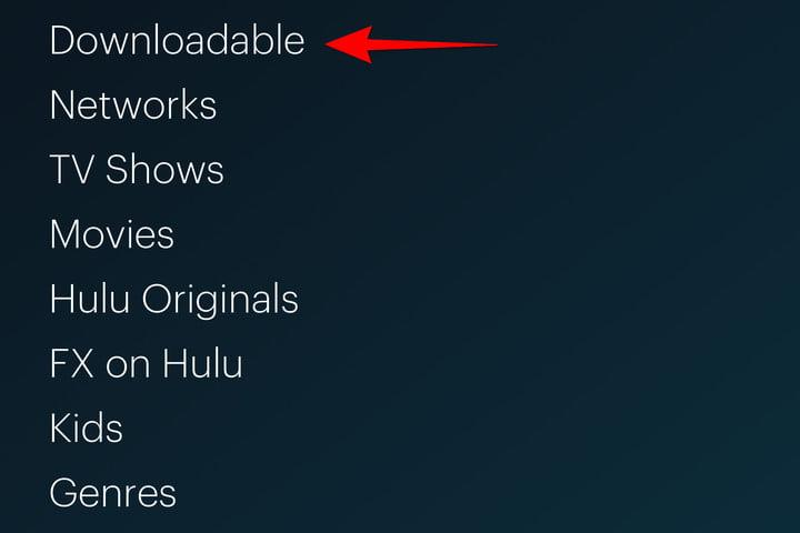 Hulu Downloadable Option