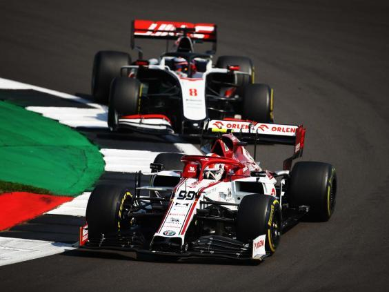 Romain Grosjean (back) drove impressively in both qualifying and race for a solid weekend (Getty)