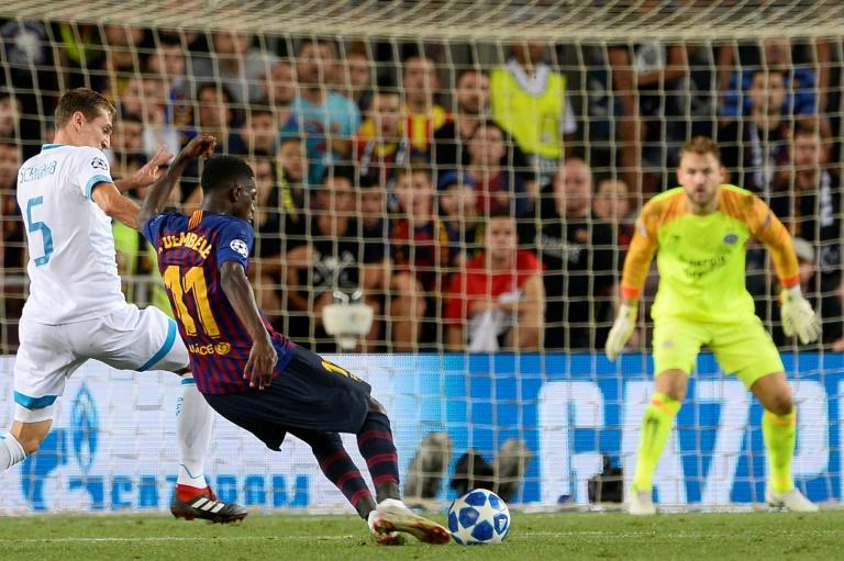 Ousmane Dembele sparkled and scored for Barcelona in the Champions' League