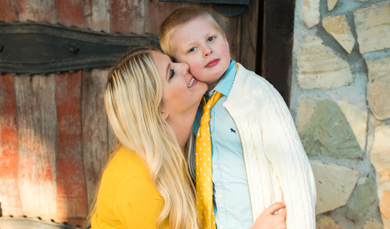"Kate Swenson's 7-year-old son, Cooper, has autism and is nonverbal. Her ""number one piece of advice"" for parents navigating the holidays with kids with autism is to speak up and be honest.  (Kacie K. Photography)"