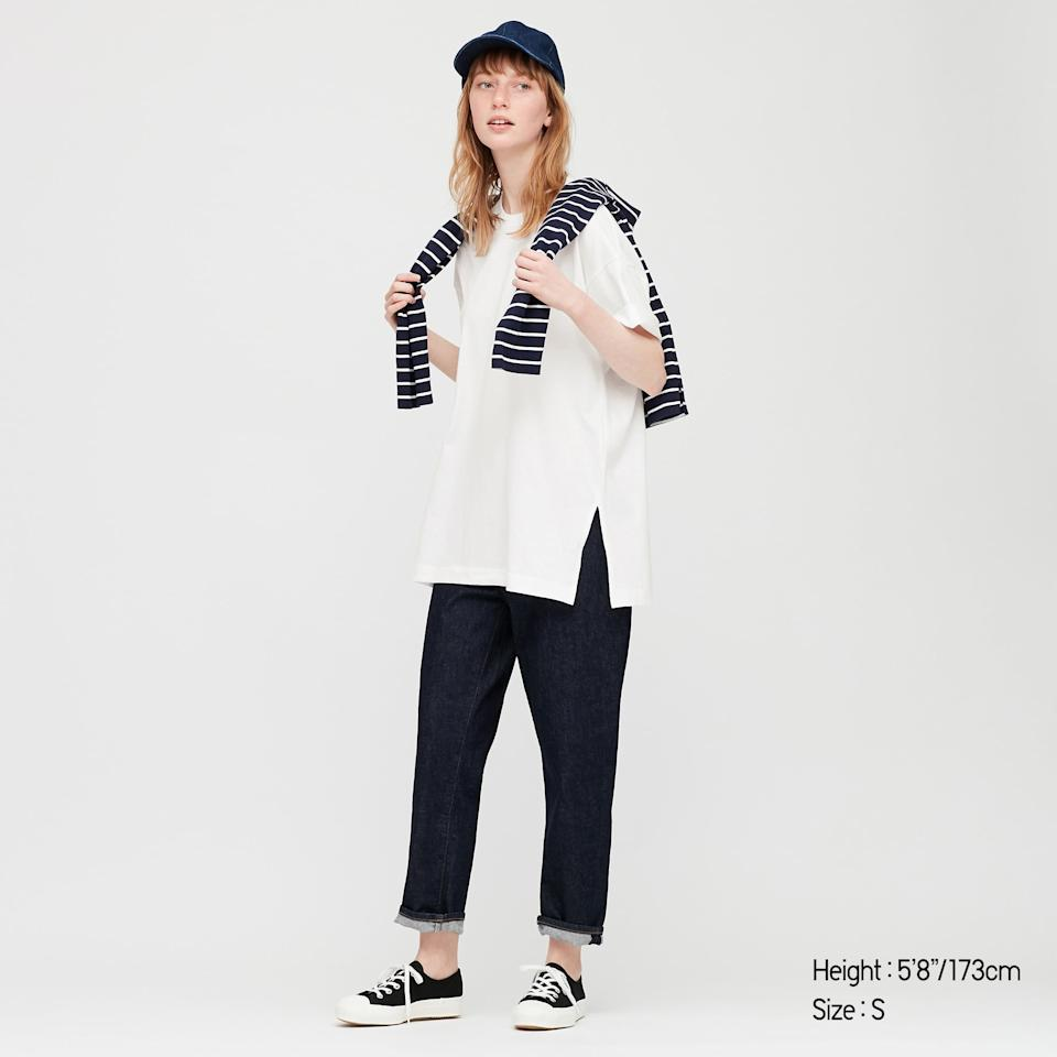 "<p><a href=""https://www.popsugar.com/buy/Uniqlo-Women-Cotton-Relaxed-Slit-Tunic-559721?p_name=Uniqlo%20Women%20Cotton%20Relaxed%20Slit%20Tunic&retailer=uniqlo.com&pid=559721&price=15&evar1=fab%3Aus&evar9=47336243&evar98=https%3A%2F%2Fwww.popsugar.com%2Ffashion%2Fphoto-gallery%2F47336243%2Fimage%2F47336697%2FUniqlo-Women-Cotton-Relaxed-Slit-Tunic&prop13=mobile&pdata=1"" rel=""nofollow"" data-shoppable-link=""1"" target=""_blank"" class=""ga-track"" data-ga-category=""Related"" data-ga-label=""https://www.uniqlo.com/us/en/women-cotton-relaxed-slit-tunic-425496.html?dwvar_425496_color=COL00&amp;cgid=#q=white%2Btunic&amp;lang=default&amp;start=1"" data-ga-action=""In-Line Links"">Uniqlo Women Cotton Relaxed Slit Tunic</a> ($15)</p>"