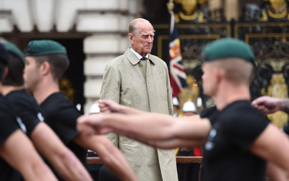The Duke of Edinburgh's final official royal engagement before retirement was a parade at Buckingham Palace - Eddie Mulholland