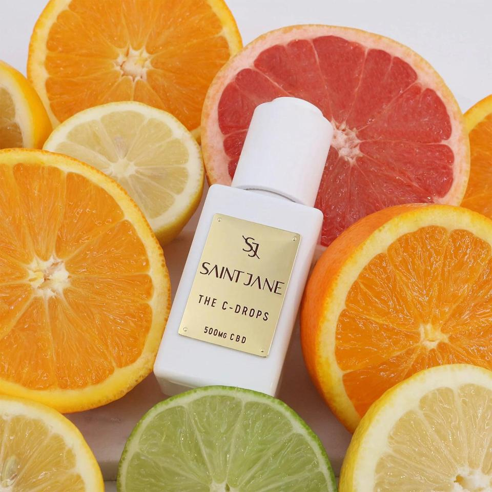 <p><span>Saint Jane Beauty The C-Drops</span> ($90) has a powerful blend of 500mg of CBD, 20 percent pure vitamin c and other antioxidants, and citrus exfoliators. The CBD is supposed to calm and soothe the look of irritation and inflammation. The vitamin C and antioxidants brighten the skin while the exfoliators gently smooth out the skin for a more glowy and radiant appearance.</p>