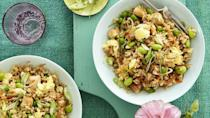 """<p>If Mom adores take-out fried rice, treat her to this healthier version instead on Mother's Day.</p><p><em><a href=""""https://www.womansday.com/food-recipes/food-drinks/a19757844/healthy-fried-rice-recipe/"""" rel=""""nofollow noopener"""" target=""""_blank"""" data-ylk=""""slk:Get the recipe for Healthy 'Fried' Rice."""" class=""""link rapid-noclick-resp"""">Get the recipe for Healthy 'Fried' Rice.</a> </em></p>"""