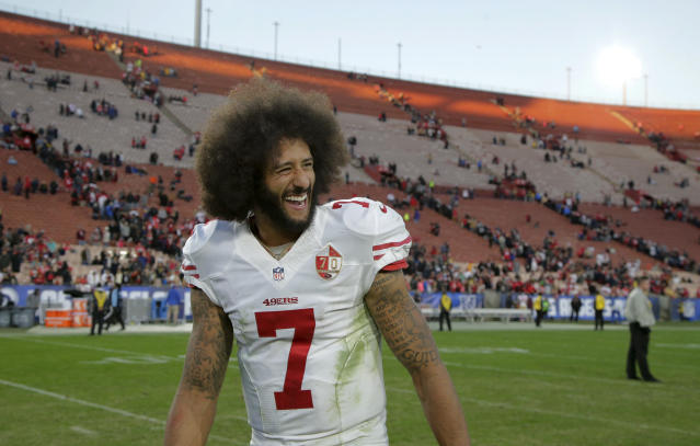 Via Twitter, Colin Kaepernick said he's ready to work out for NFL teams on Saturday in Atlanta. (AP Photo/Jae C. Hong)