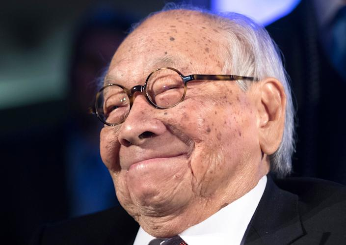 I.M. Pei, the Chinese American architect who designed the Louvre Pyramid in Paris, the East Building of the National Gallery of Art in Washington, D.C., and the JFK Library in Boston, died on May 16, 2019 at 102.