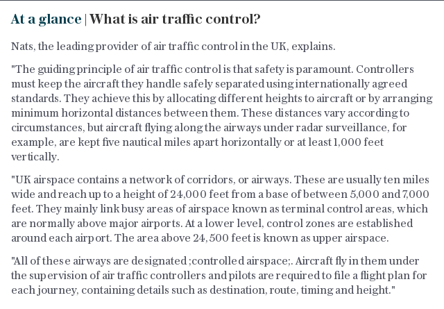 At a glance | What is air traffic control?