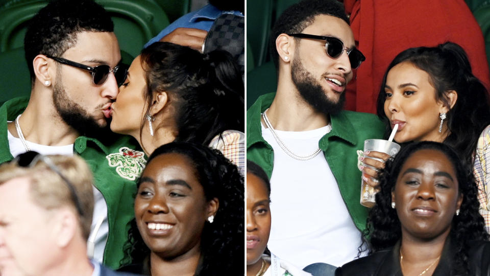 Ben Simmons and Maya Jama, pictured here looking very loved-up at Wimbledon.