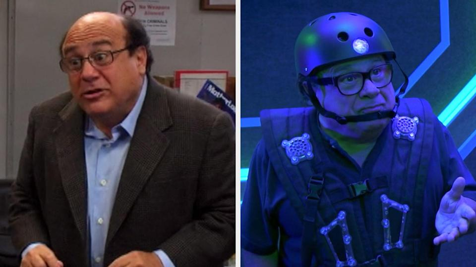 """Danny DeVito in Season 2, 1st episode """"Charlie Gets Crippled"""" vs. the Season 14, 10th episode """"Waiting for Big Mo"""""""
