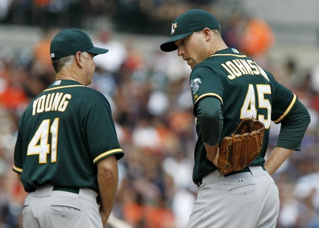 Jim Johnson designated for assignment by A's, ending his rough stay in Oakland