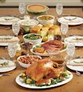 <p>Marie Callender's ready to heat meals serve between four and eight people and are filled with the ultimate Thanksgiving spread — apple-sage stuffing, fire-roasted yams with cranberry streusel topping, cranberry sauce, fresh mashed potatoes, turkey gravy, chef's vegetables, fresh-baked cornbread, and a whole pumpkin or apple pie. Choose between ham or turkey to complete the meal. </p>