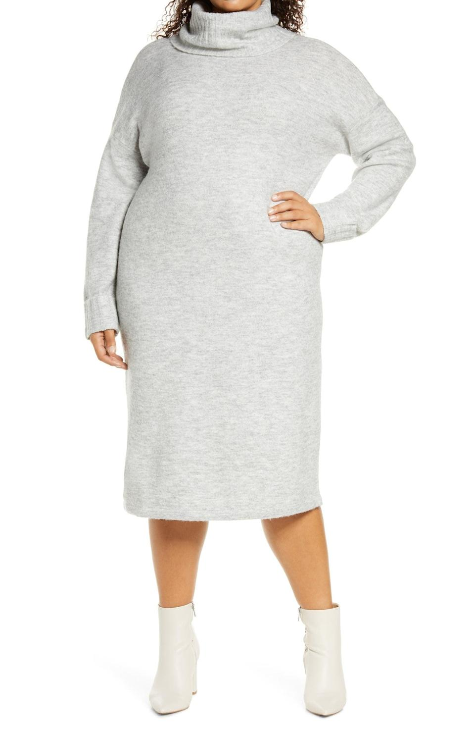 <p>This <span>Vero Moda Gaiva Cowl Neck Long Sleeve Sweater Dress</span> ($49) will feel like you never left your bed.</p>