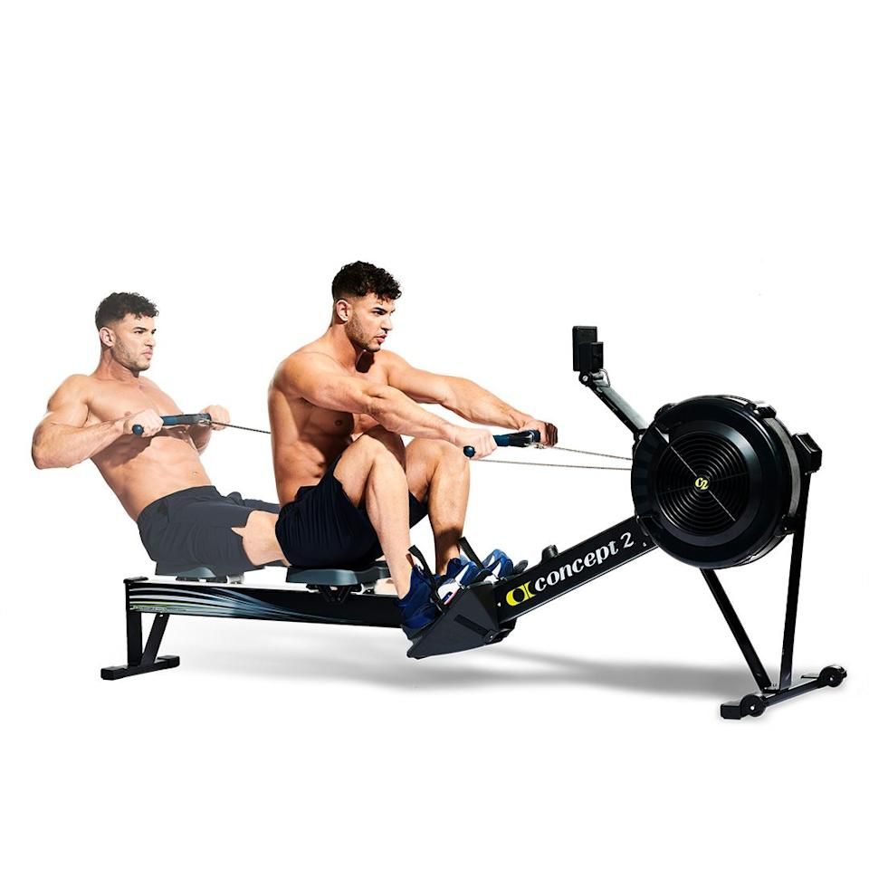 <p>That will have hurt, but jump off the bike and try to strap into the rower while the wheels are still turning. With your legs bent, sit up tall with your arms outstretched. Push off and straighten your legs and extend slightly through your lower back as you pull the handle to your chest. Return and repeat. Lots.<br></p>