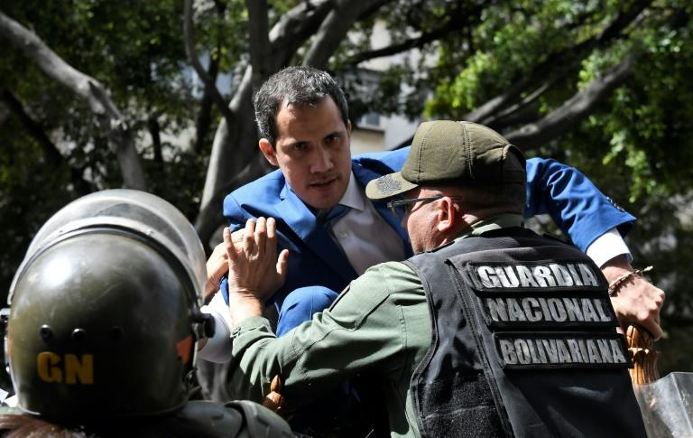 The US is angry over the Venezuelan police's move to block opposition leader and self-proclaimed acting president Juan Guaido from entering the National Assembly on the day he was expected to be re-elected as its speaker (AFP Photo/Federico PARRA)