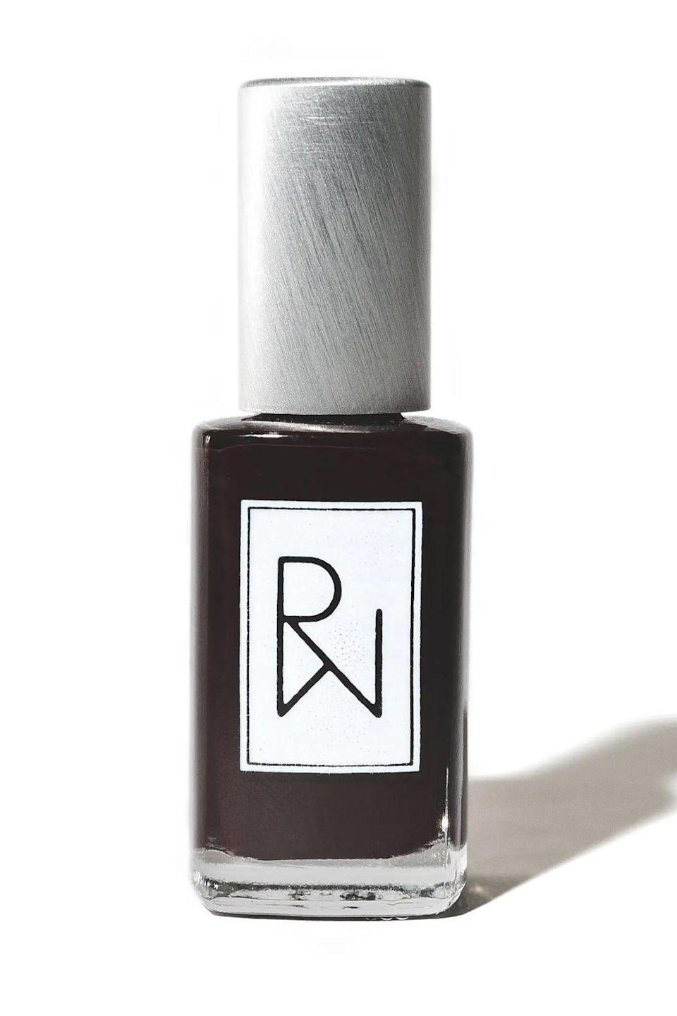 """<p>rootedwoman.com</p><p><strong>$15.00</strong></p><p><a href=""""https://www.rootedwoman.com/products/renewed"""" rel=""""nofollow noopener"""" target=""""_blank"""" data-ylk=""""slk:Shop Now"""" class=""""link rapid-noclick-resp"""">Shop Now</a></p><p>This ultra-dark red nail polish from indie brand Rooted Woman is <strong>basically the clean version of Essie's iconic Wicked shade</strong>. It's non-toxic, ethically made, and a total staple for all your <a href=""""https://www.cosmopolitan.com/style-beauty/beauty/g13813011/winter-nail-colors/"""" rel=""""nofollow noopener"""" target=""""_blank"""" data-ylk=""""slk:winter manis"""" class=""""link rapid-noclick-resp"""">winter manis</a> and pedis.</p>"""