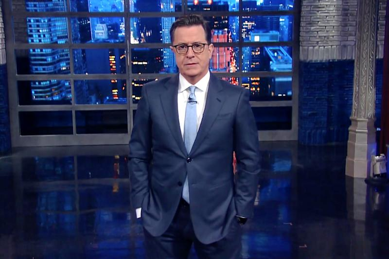 Stephen Colbert pulls the 'Frozen' parenting trick on President Trump