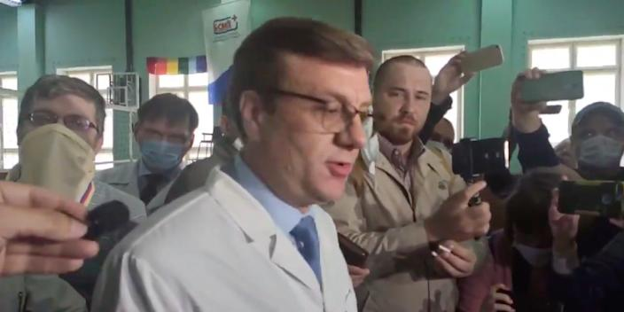 The chief doctor at the hospital in Omsk, Siberia, where Alexei Navalny is being treated following an alleged poisoning.