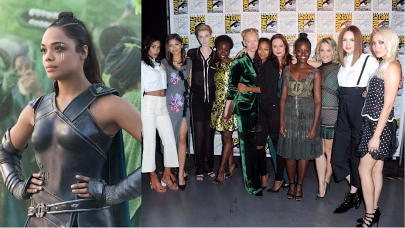 Tessa Thompson wants a Marvel movie about *superheroines*, and YES PLEASE