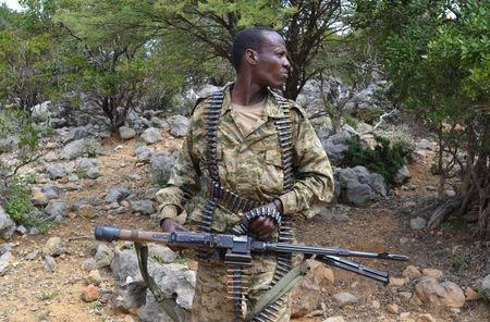 FILE PHOTO: A soldier from Somalia's Puntland