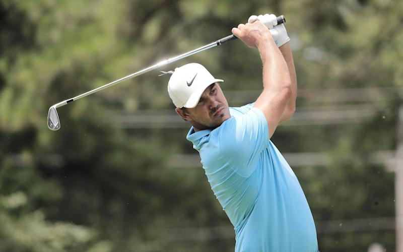 Brooks Koepa off the tee in Memphis -Brooks Koepka shoots an eight-under 62 to lead WGC St Jude Invitational after taking swipe at 'cowardly' rivals - SHUTTERSTOCK