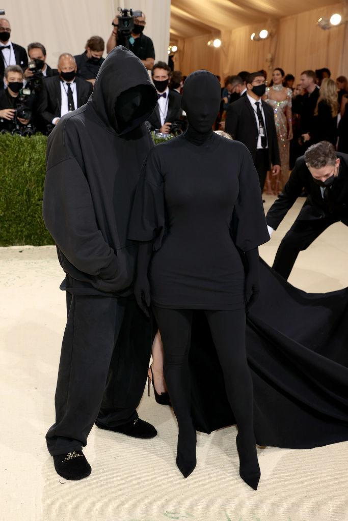 Kim Kardashian hit the red carpet with a mystery man that fans originally thought was estranged husband Kanye West. (Getty Images)