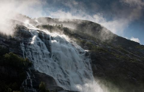 Langfoss waterfall - Credit: Getty