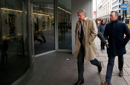 Mark Turnbull, Managing Director of SCL Elections/Cambridge Analytica arrives at the offices of Cambridge Analytica in central London, Britain, March 20, 2018. REUTERS/Henry Nicholls