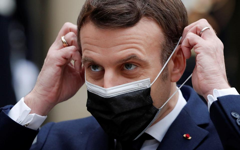 French president Emmanuel Macron was criticised for questioning the Astra Zeneca jab's effectiveness -  REUTERS/ BENOIT TESSIER
