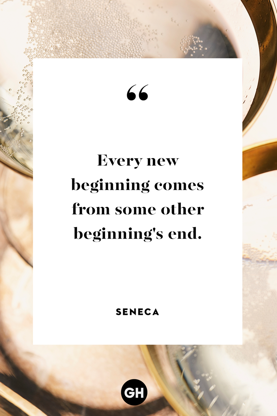 <p>Every new beginning comes from some other beginning's end.</p>