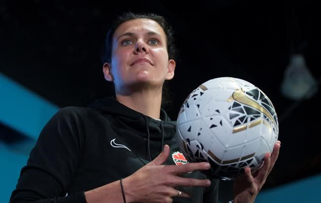 Canada captain Christine Sinclair looks to help young girls impacted by the pandemic