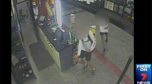Videos of shoplifters were posted online, leading to a large response from locals. Photo: 7 News
