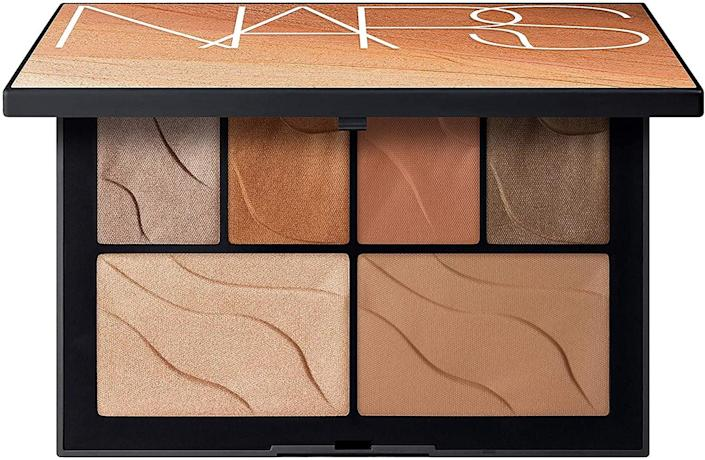 <p>Sculpt your complexion for a glowy bronze look with the <span>NARS Summer Lights Face Palette</span> ($45).</p>