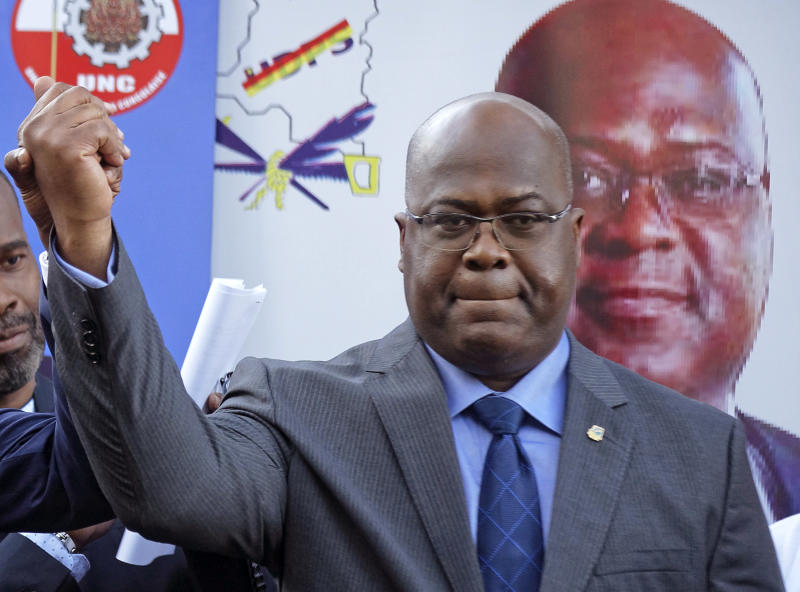 Congo on brink of 1st peaceful transfer with Tshisekeid win