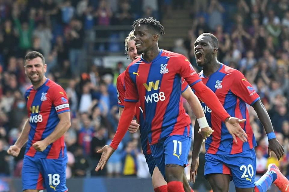 Wilfried Zaha has made a strong start to the season  (AFP via Getty Images)