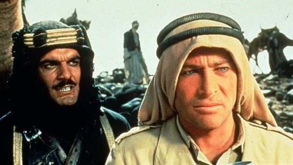 """Omar Sharif and Peter O'Toole in """"Lawrence of Arabia"""" (AMUSEMENTS,MOVIES Omar Sharif, left, and P"""