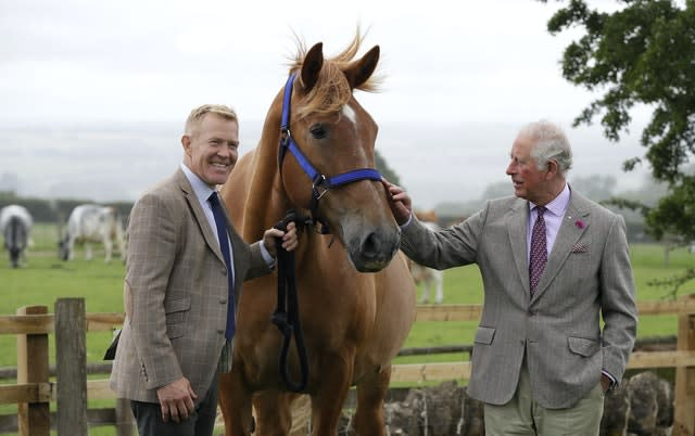 Charles meets Adam Henson and Victoria