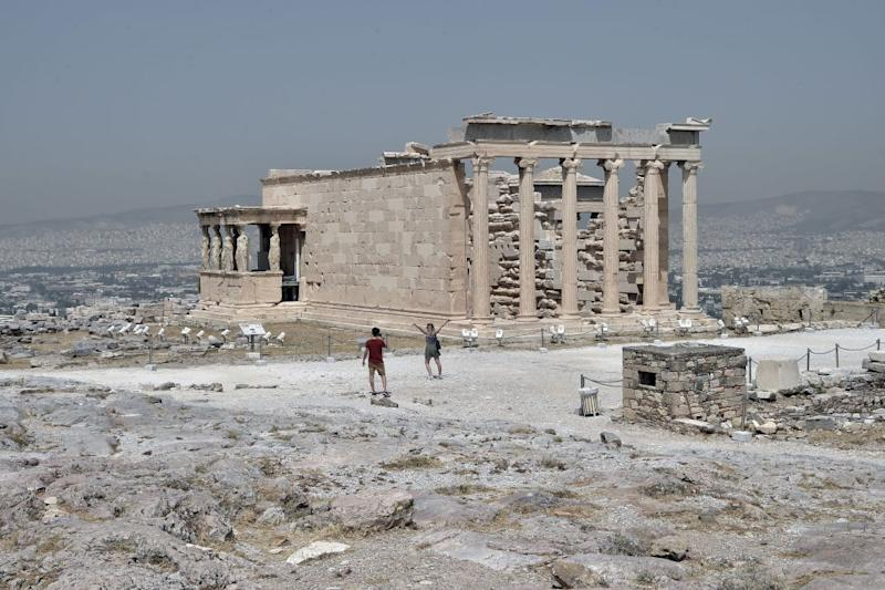 The ancient ruins of Athens are crowd-free - getty