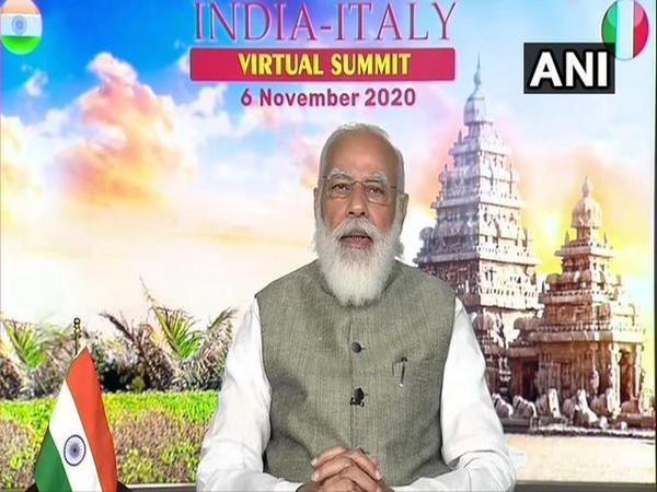 Prime Minister Narendra Modi at India-Italy Virtual Summit on Friday.